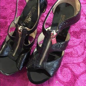 Genuine patent leather Michael Kors heels